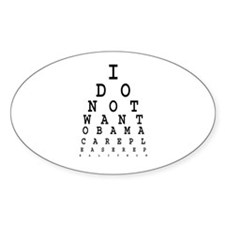Obamacare eye test. Decal