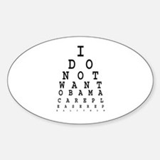 Obamacare eye test. Decal