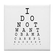 Obamacare eye test. Tile Coaster