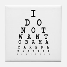 Obamacare eye test. Tile Coaster