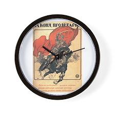"""Red Horseman"" Wall Clock"