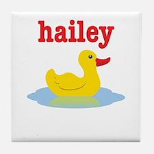 Hailey's rubber ducky Tile Coaster