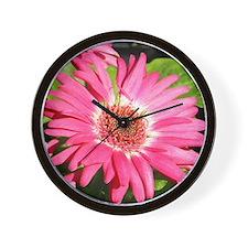 Pink Gerber / Gerbera Daisy Wall Clock