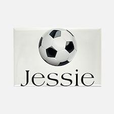 Jessie Soccer Rectangle Magnet
