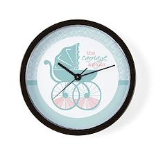 The Carriage Awaits Wall Clock
