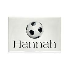 Hannah Soccer Rectangle Magnet