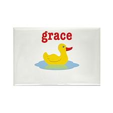 Graces rubber ducky Rectangle Magnet
