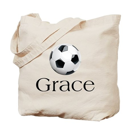Grace Soccer Tote Bag