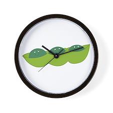 Happy peas Wall Clock
