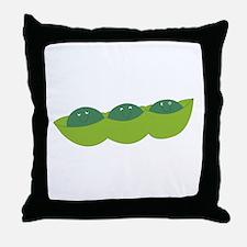 Happy peas Throw Pillow