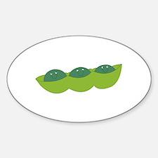 Happy peas Sticker (Oval)
