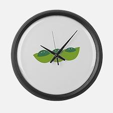 Happy peas Large Wall Clock