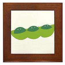 Happy peas Framed Tile