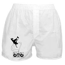 Breakdancer Black Boxer Shorts