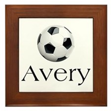 Avery Soccer Framed Tile