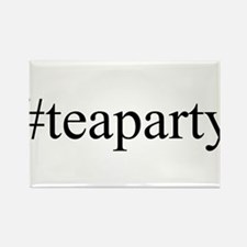 #teaparty Rectangle Magnet