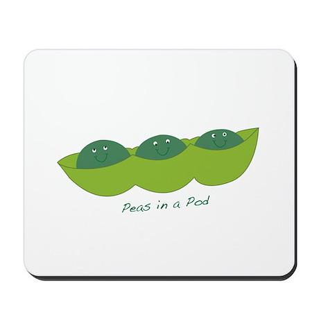 Happy Peas in a Pod Mousepad