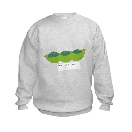 Happy Peas in a Pod Kids Sweatshirt