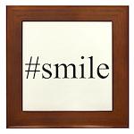 #smile Framed Tile