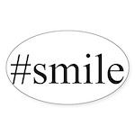 #smile Sticker (Oval 10 pk)