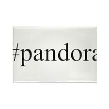 #pandora Rectangle Magnet