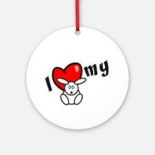 I Love My Bunny Ornament (Round)