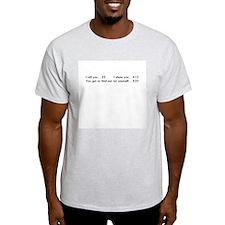 """Price list"" Ash Grey T-Shirt"