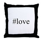 #love Throw Pillow