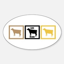 I Love Beef Nilaga Sticker (Oval)