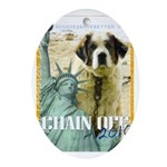 Chain Off 2010: St. Bernard Ornament (Oval)