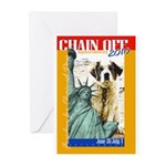 Chain Off 2010: St. Bernard Greeting Cards (Pk of
