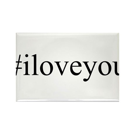 #iloveyou Rectangle Magnet (100 pack)