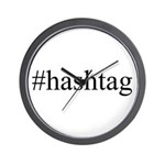 #hashtag Wall Clock