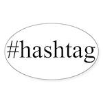#hashtag Sticker (Oval 50 pk)