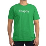 #happy Men's Fitted T-Shirt (dark)