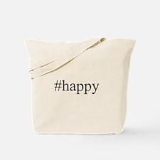 #happy Tote Bag
