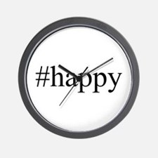 #happy Wall Clock