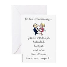 """""""The Utmost Respect"""" Anniversary Card"""