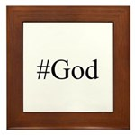 #God Framed Tile
