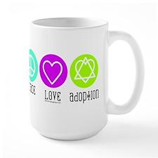 Peace Love Adoption Mug