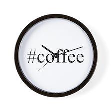 #coffee Wall Clock
