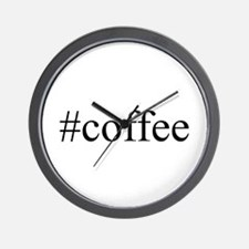 #coffee Wall Clock