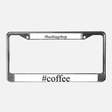 #coffee License Plate Frame