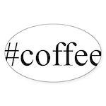 #coffee Sticker (Oval 50 pk)