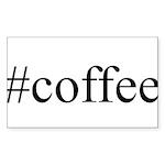 #coffee Sticker (Rectangle 50 pk)