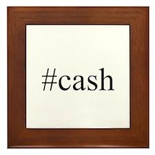 #cash Framed Tile