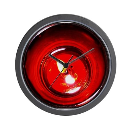 Red Candle Wall Clock