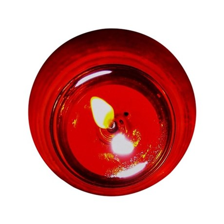 """Red Candle 3.5"""" Button (100 pack)"""