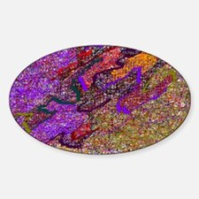 Abstract Voice Art Oval Decal