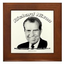 Richard Nixon 03 Framed Tile